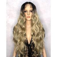Парик на сетке Lace Wig Freyas тон 4/16A/613F пшенично-пепельный блонд, омбре