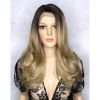 Перука на сітці Lace Wig LEVA № 6-23 бронзовий блонд, омбре