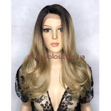 Парик на сетке Lace Wig LEVA № 6-23 бронзовый блонд, омбре