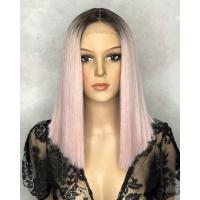 Парик на сетке Lace Wig SHAKIA № NT6-PK18 розовый блонд омбре