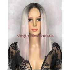 Парик на сетке Lace Wig SHAKIA № NT6-PKGD6 блонд с сиреневым отливом, омбре