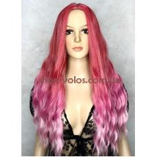 Парик LC 5001 ombre pink малиново-розовый омбре