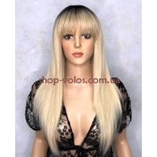 Парик № 4593 тон Y928H блондин с эффектом отросших корней