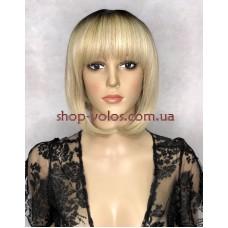 Перука Боб Каре № 501 тон Y928H блондин з ефектом відрослого коріння