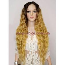 Парик на сетке Lace Wig Gianna № 6-27-24E коричнево-льняной, омбре