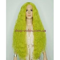 Парик на сетке лаймовый длинный Lace Wig Lime