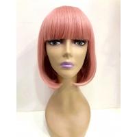Парик темно-розовый каре 17101 тон Pink Ash с имитацией кожи