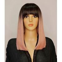 Парик Emily Pink черно-розовый омбре термо