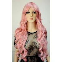 Парик розовый длинный № Pink-5