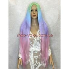 Парик на сетке разноцветный длинный Lace Wig Super Straight тон 03 термостойкий