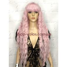 Парик бледно-розовый длинный Paris тон Pink