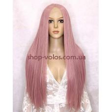 Парик на сетке Lace Wig Pink-80 грязно-розовый, 80 см