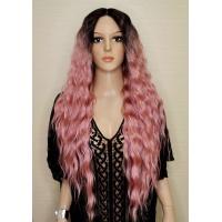 Парик на сетке Lace Wig Super Lily № PKGD розово-черный, омбре