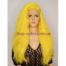 Парик на сетке желтый длинный Lace Wig Zlata термостойкий