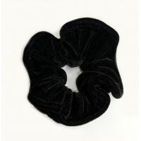 Велюрова резинка чорна