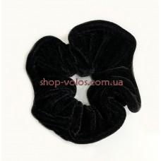 Велюровая резинка для волос черная