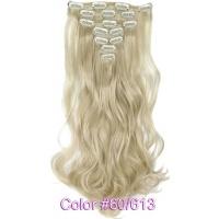Набір тресс 7 шт № 60-613k молочний блондин