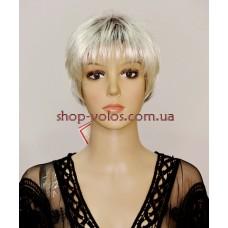 Перука ANGELA тон YS33-1061F сріблястий блонд з ефектом відрослого коріння