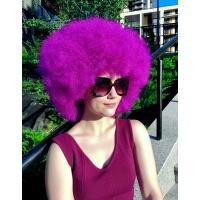 Парик афро фиолетовый каре № 10 тон purple