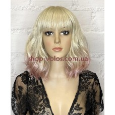 Перука блонд/рожева каре Gemma тон PKGD1/56D омбре