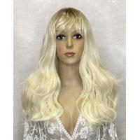 Парик блонд длинный LC 335 омбре термостойкий с имитацией кожи головы