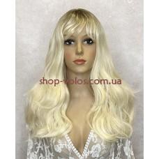 Перука блонд довга LC 335 омбре термостійка з імітацією шкіри голови