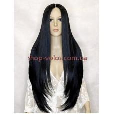 Парик на сетке черный мягкий длинный Lace Wig Allure тон 1B