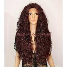Парик на сетке Lace Wig Bess Burg темно-бордовый