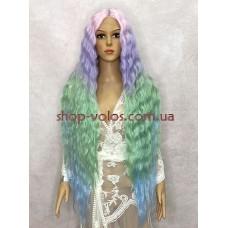 Парик на сетке разноцветный длинный Lace Wig Bohemian тон 07