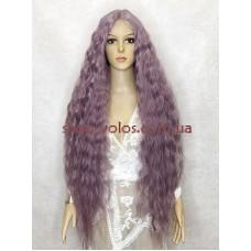 Парик на сетке сиреневый длинный Lace Wig Bohemian тон ASHPU термостойкий