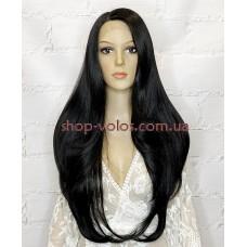 Парик на сетке черный мягкий длинный Lace Wig DAVICHI тон 1B