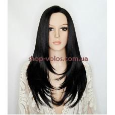 Парик на сетке Lace Wig INNIS № 1B черный мягкий