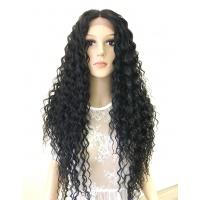 Парик на сетке Lace Wig KELLY № 1B черный мягкий
