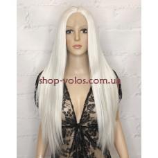 Парик на сетке белый длинный Lace Wig Q-60 термостойкий