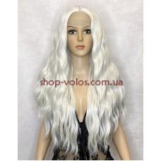 Парик на сетке белый длинный Lace Wig Q-60k термостойкий
