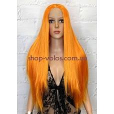 Перука на сітці помаранчева довга Lace Wig Q Orange термостійка