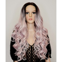 Парик на сетке Lace Wig Arika 4-AMBRS блонд с розовым отливом, омбре