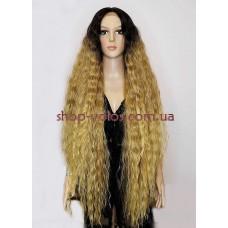 Парик на сетке Lace Wig Bohemian № 6-27-24E  коричнево-льняной омбре
