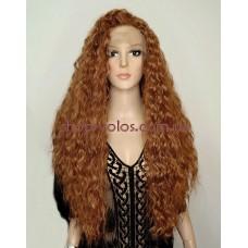Парик на сетке Lace Wig Bruns коричнево-рыжий, 75 см, термостойкое волокно