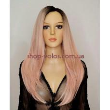 Парик на сетке Lace Wig INNIS № 1BtPink розовый, омбре