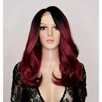 Парик на сетке Lace Wig LEVA № 1-118 бордово-вишневый
