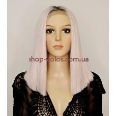 Парик на сетке Lace Wig SHAKIA № RT6-PK18 блондин с розовым отливом
