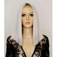 Парик на сетке Lace Wig SHAKIA № PKGD6 блонд с сиреневым отливом