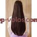 Тресса прямая № 4A-33 коричнево-бордовый светлый