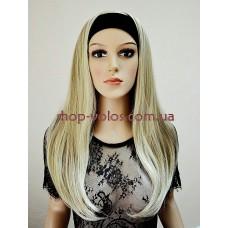 Парик на повязке пепельный блонд длинный № 16-613 мелированный