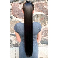 Шиньон 75 см № 4 темно-коричневый