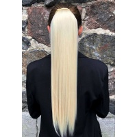 Шиньйон прямий № 613A світлий блонд