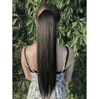 Шиньон прямой № 2 черно-коричневый
