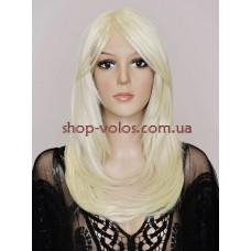 Перука на сітці Lace Wig 2433 тон 122 молочний блонд