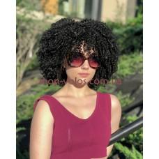 Перука афро чорна м'яка каре Afro Cool тон 1B